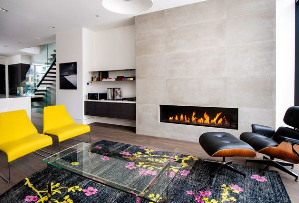 Add bursts of color around the Eames Lounge Chair for a vivacious and playful look