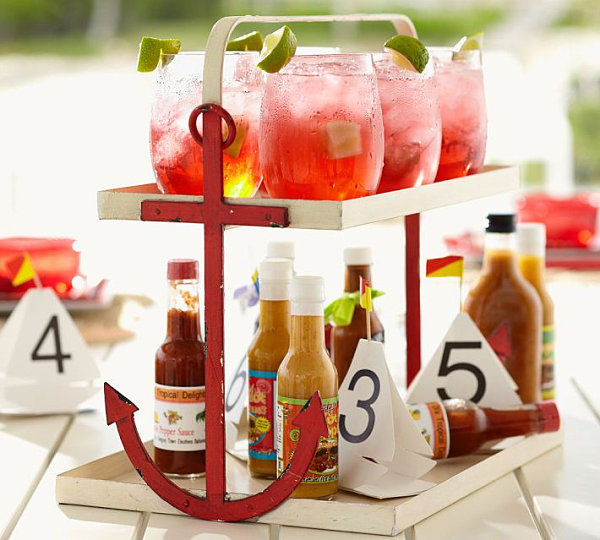 Anchor stand for summer entertaining