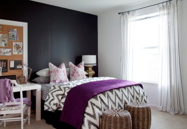 Another wonderful example of how to use accent fabrics in purple to steal the show!