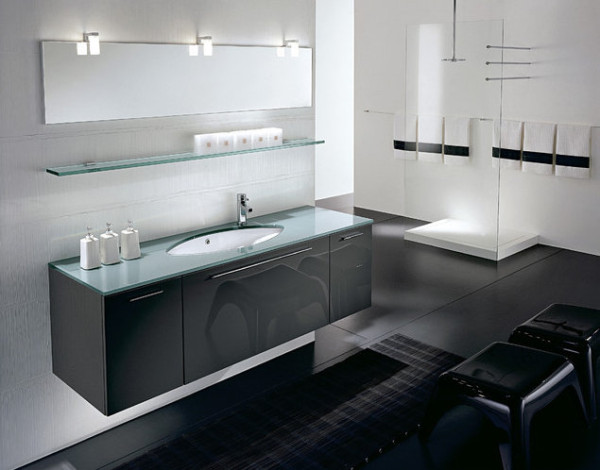 Bathroom with minimalist modern style