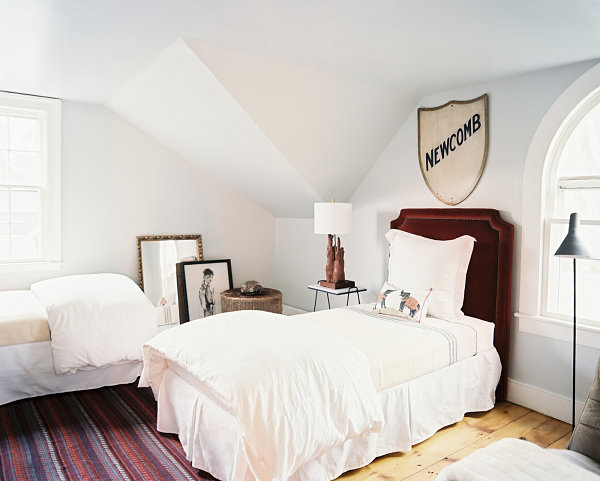 Bedroom with artistic details
