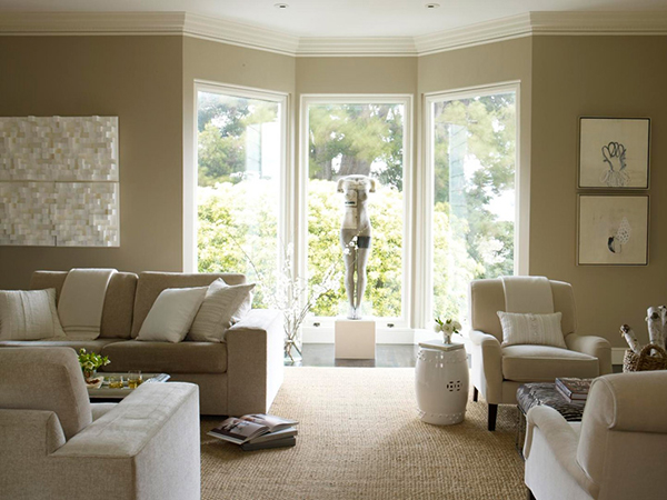 Beige and White Living Room Forecasted Design Trends for 2013