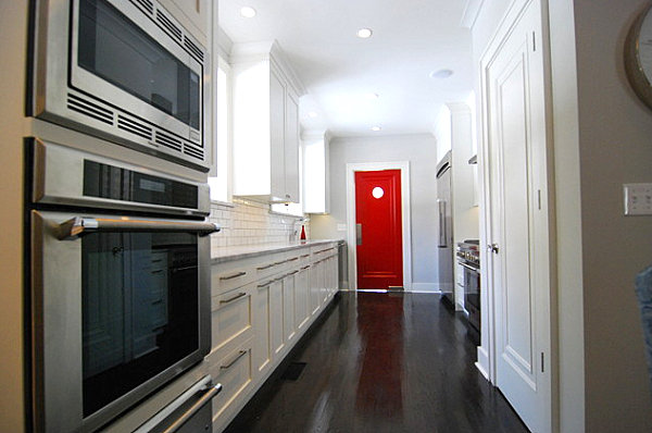 Bold red kitchen door