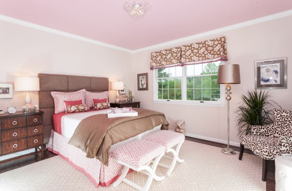 Stylish girls pink bedrooms ideas for Brown and red bedroom decorating ideas