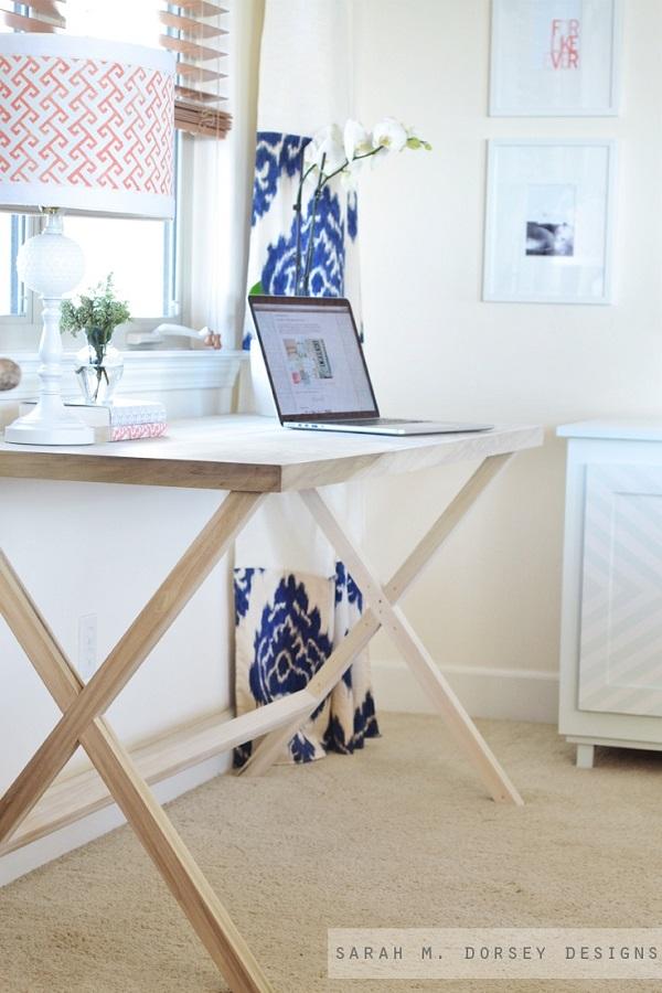 Campaign style desk DIY