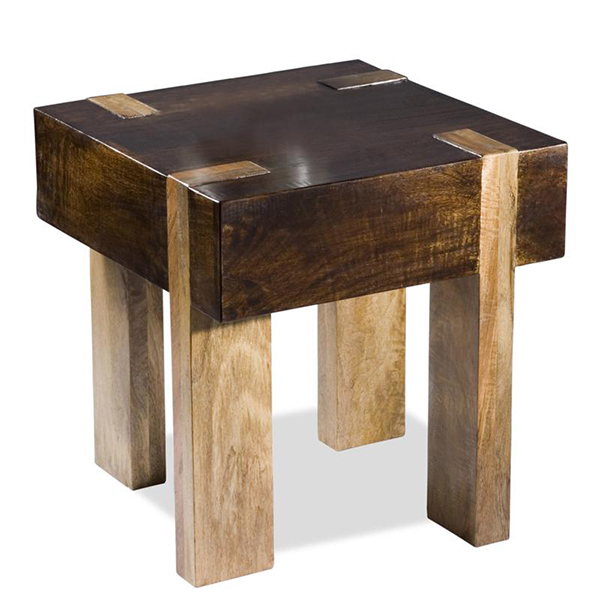 Chunky Wood End Table