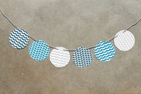 Circle garlands for summer