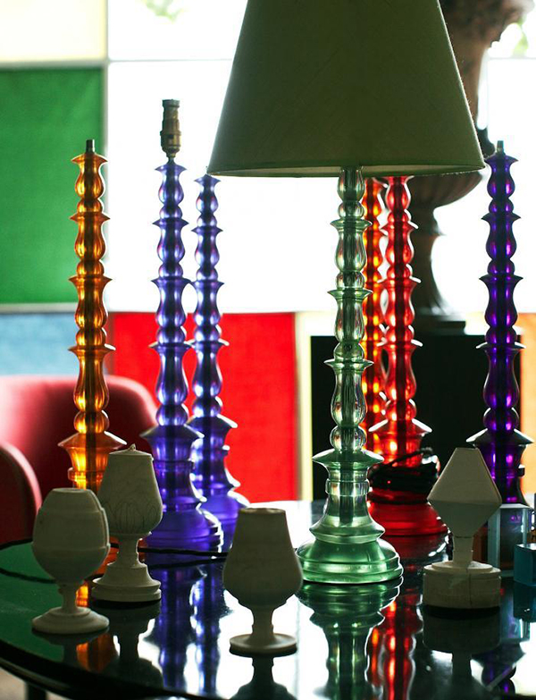 Colorful Resin Lamps