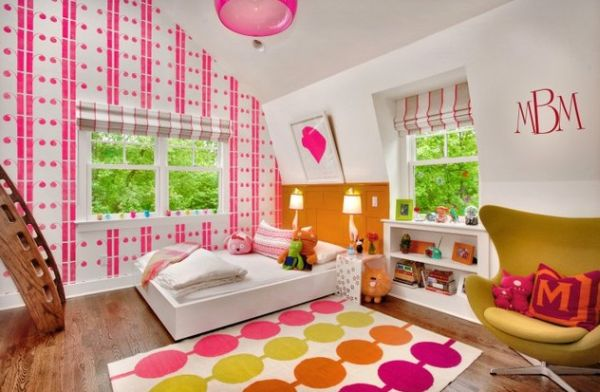 Colorful kids' room sporting the egg chair in style