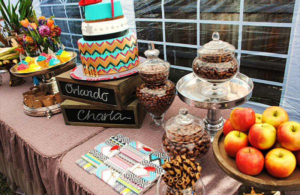 Colorful tribal birthday party