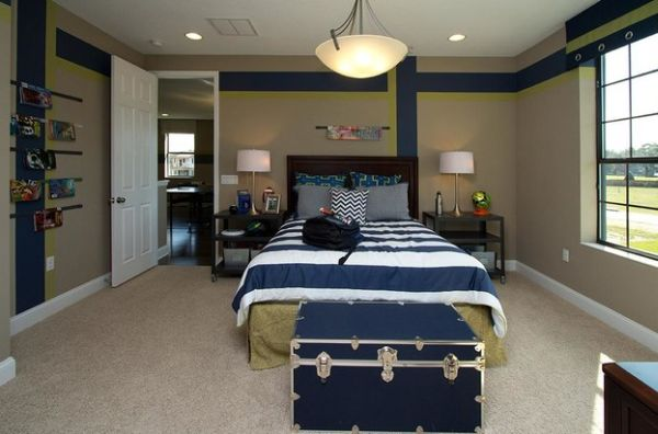 View in gallery Contemporary teen boys' bedroom looks both practical and  trendy