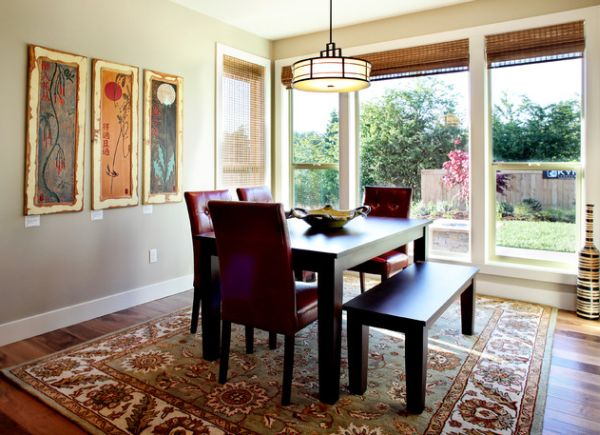 Control the lighting in your dining space using cool blinds