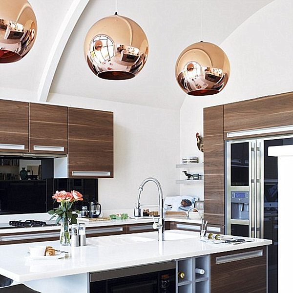 The shiny kitchen metal decor for your culinary space - Modern pendant lighting for kitchen ...