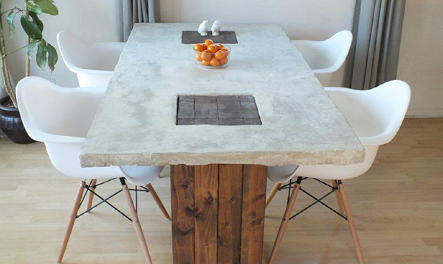 DIY Dining Tables To Dine In Style - Extendable concrete dining table