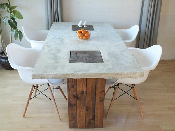 Bon View In Gallery DIY Concrete Dining Table