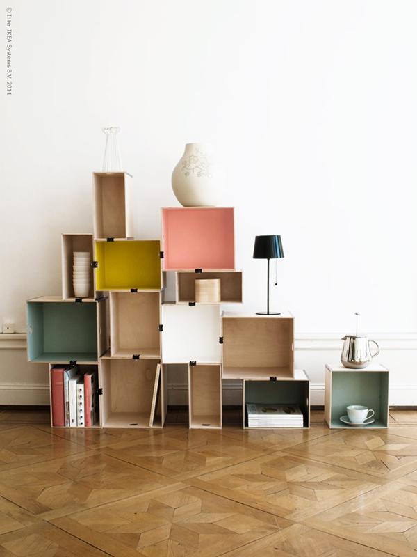 DIY IKEA Box Shelves