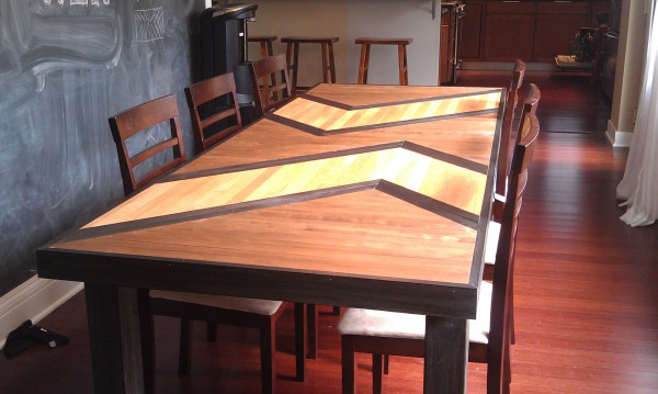 DIY Patterned Plywood Dining Table 2
