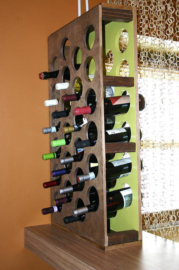 DIY Room Divider Wine Rack