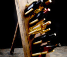 DIY Rustic Dowel Wine Rack