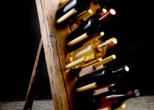 DIY Rustic Dowel Wine Rack 217x155 Amazing DIY Wine Storage Ideas