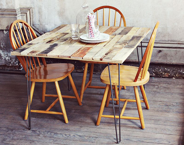 DIY Shipping Pallet Dining Table 2