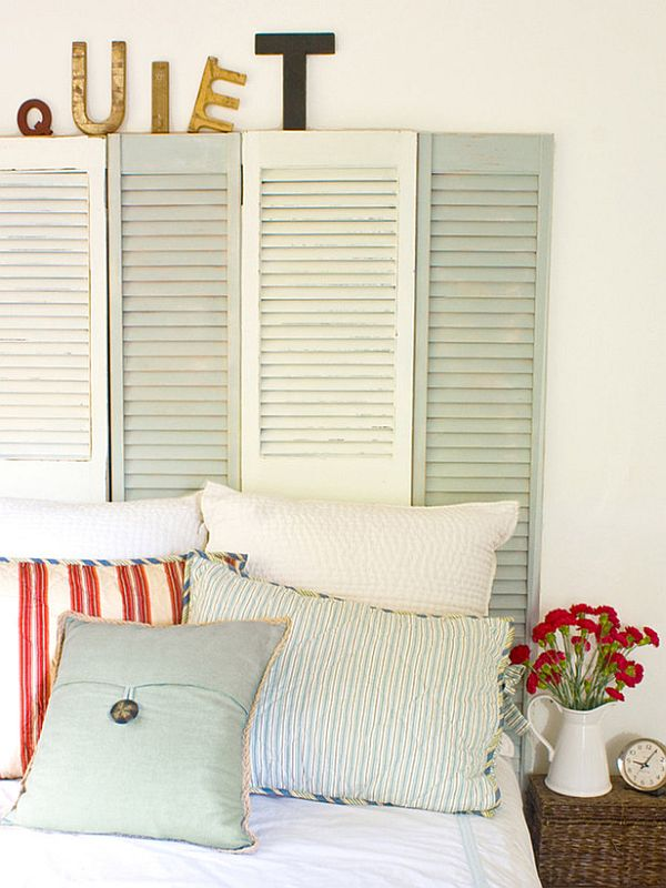 Gorgeous diy headboards for a charming bedroom for Makeshift headboard