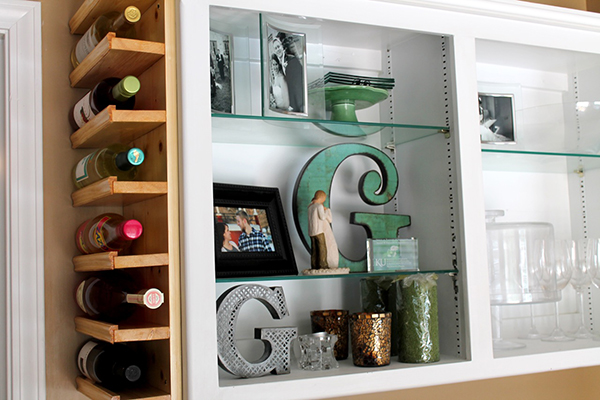 View in gallery DIY Side of Cabinet Wine Rack