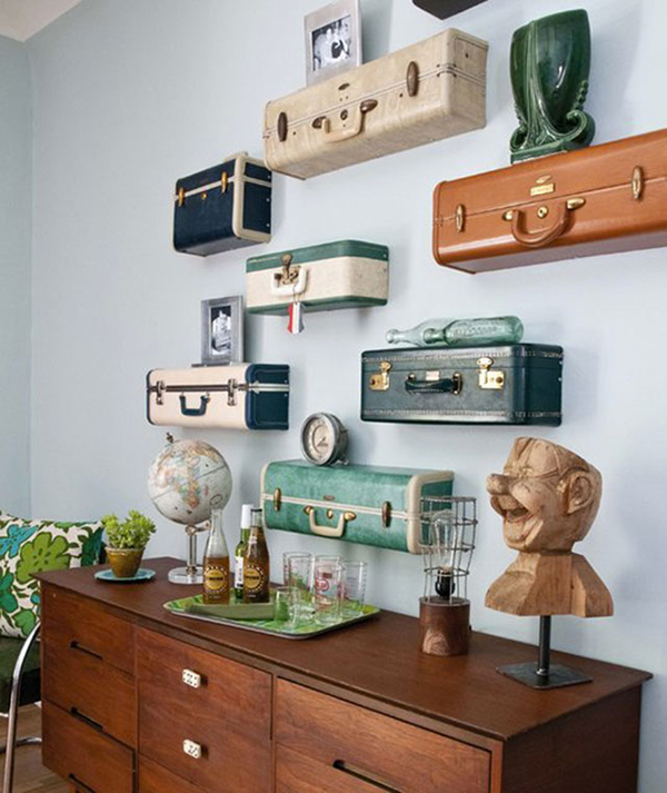 DIY Suitcase Shelves