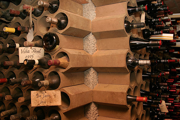 DIY Terracotta Tube Wine Rack