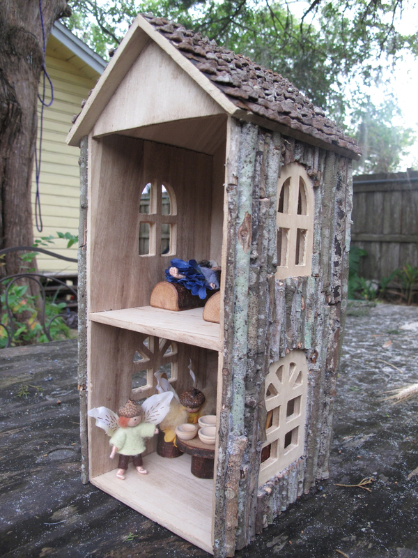 DIY Woodsy CD Tower Dollhouse