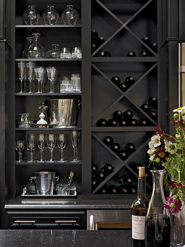DIY X Shelves for Wine Storage