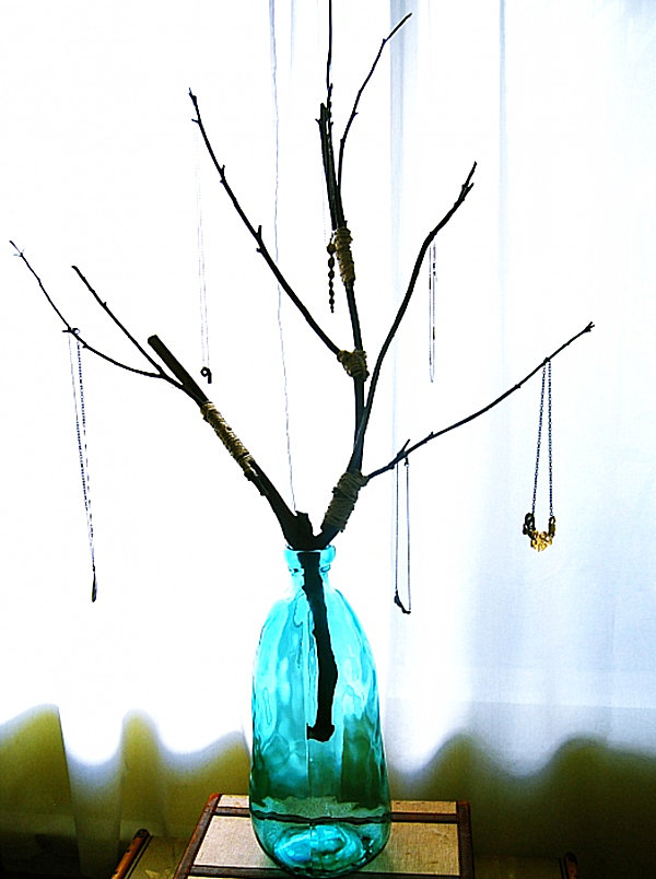 DIY jewelry tree 20 Jewelry Storage Options for a Stylish Display