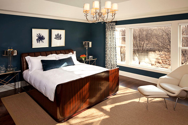 Deep sapphire bedroom