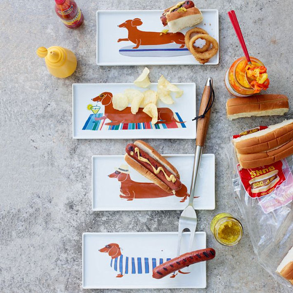 Dog plates for summer entertaining