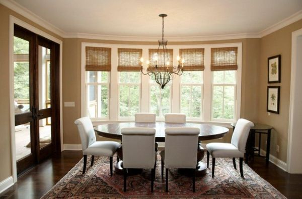 Organic indoors woven wood shades and bamboo blinds for for Different dining room styles