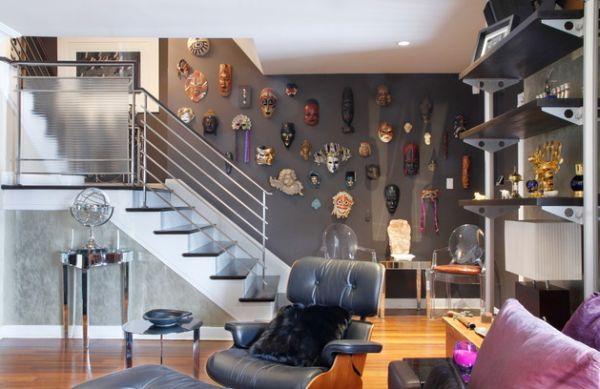 Eclectic living space brings in a multitude of design elements
