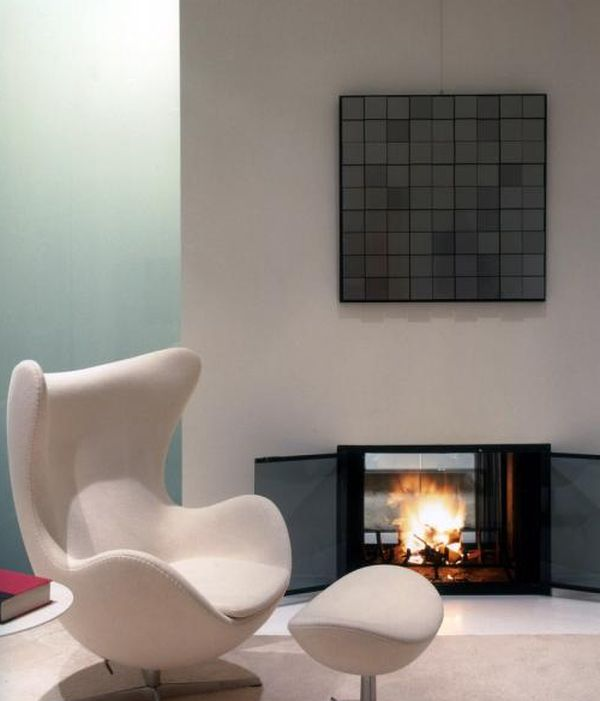 Egg chair perfect for that cozy and inviting nook next to the fireplace