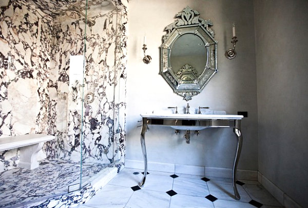 Elegant marble bathroom