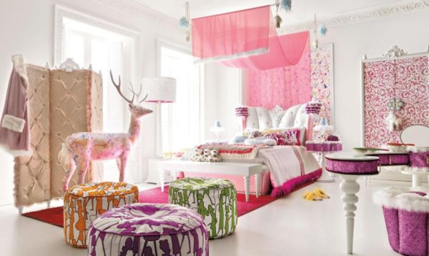 Pretty In Pink: 35 Stylish Girlsu0027 Bedroom Ideas In Pink For The  Contemporary Home