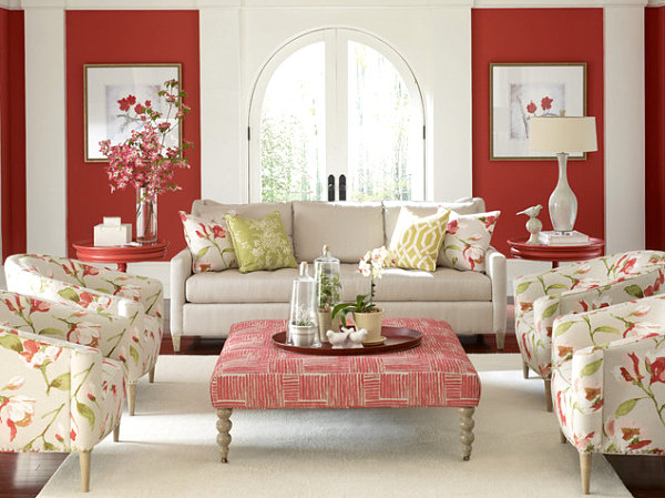 floral living room ideas masculine living rooms vs feminine living rooms 13158