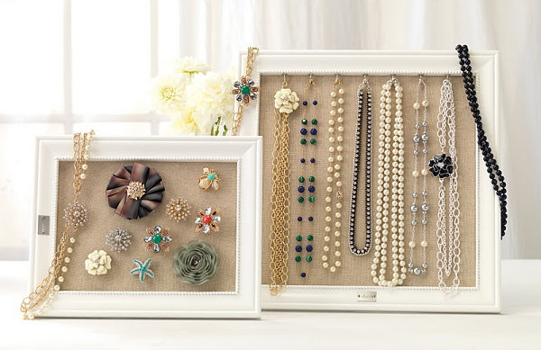 Framed jewelry organizers