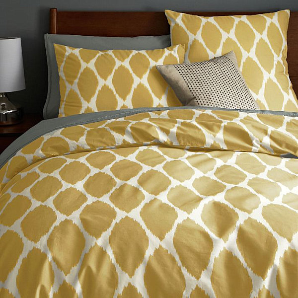 Golden yellow duvet cover