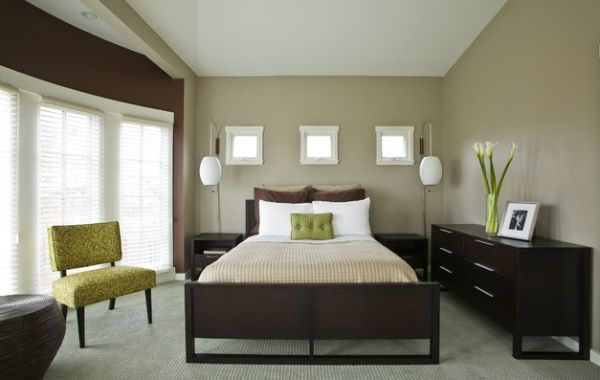 Green in the form of accents can transform your existing bedroom theme easily