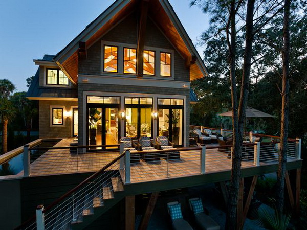 Hgtv dream house 2013 steals the show with a stylish deck for Dream wooden house