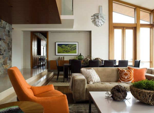 It is best to repeat accent colors as it lends more visual balance to the room