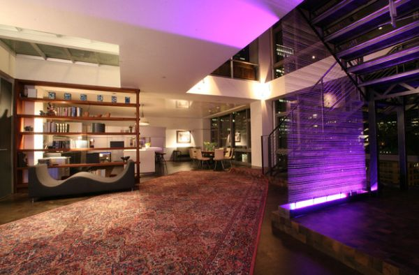 It need not always be decor or wall paint that brings out purple hues