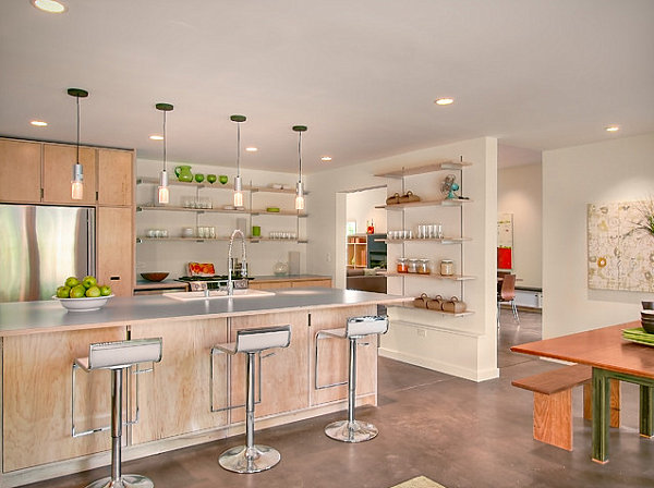 Laminate countertops in a modern kitchen