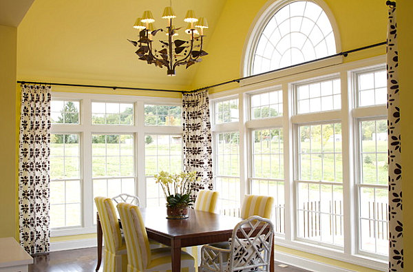 Lemon yellow dining room