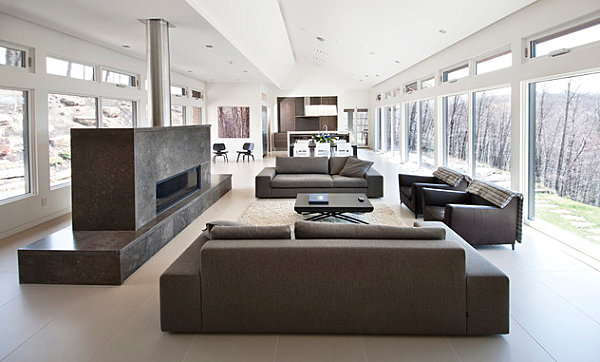 Minimalist clean-lined living room