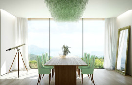 Mint green dining room accents